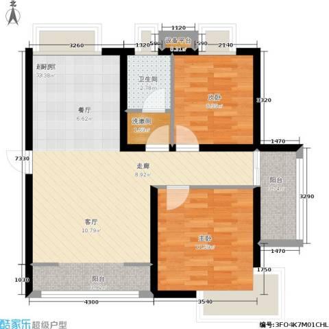 水印雅园2室0厅1卫0厨75.00㎡户型图