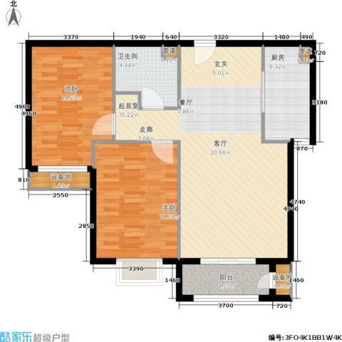 维多利亚广场2室0厅1卫1厨115.00㎡户型图