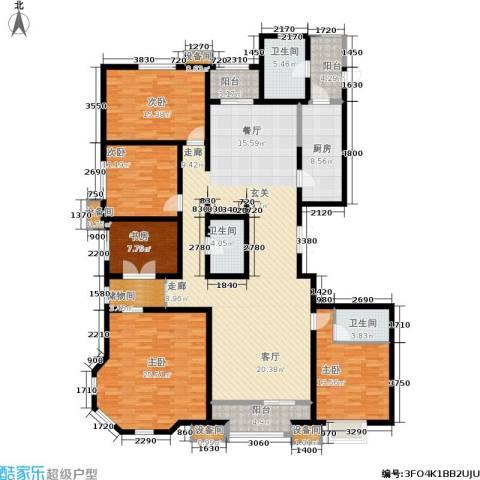 维多利亚广场5室0厅3卫1厨168.00㎡户型图