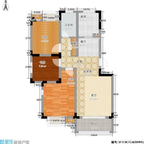 东方豪城3室0厅1卫1厨112.00㎡户型图