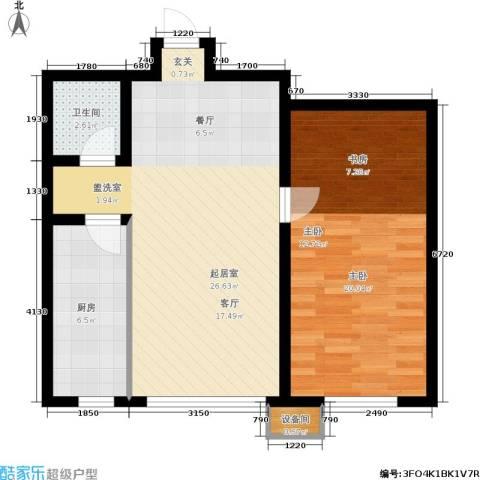 香榭丽花园1室0厅1卫1厨80.00㎡户型图