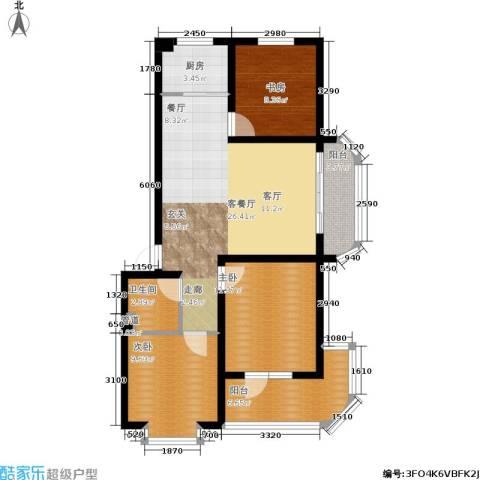尚城花墅3室1厅1卫1厨94.00㎡户型图