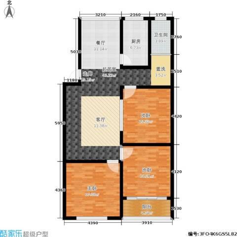 丽都桃源3室0厅1卫1厨152.00㎡户型图