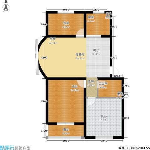 尚城花墅3室1厅1卫1厨112.00㎡户型图