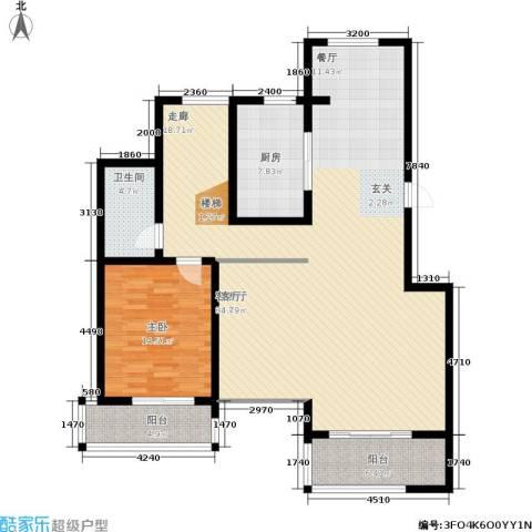 万达高尔夫花园1室1厅1卫1厨151.00㎡户型图