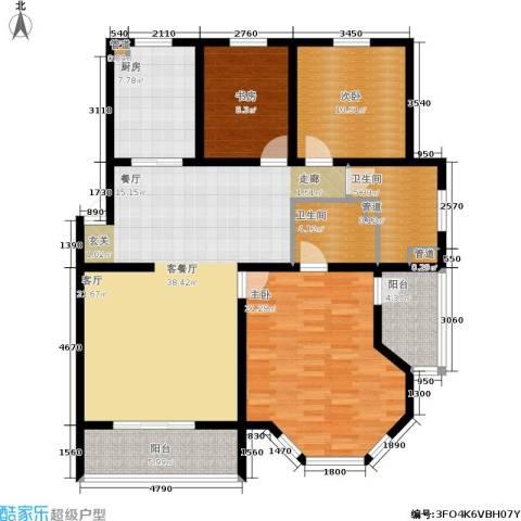 尚城花墅3室1厅2卫1厨139.00㎡户型图