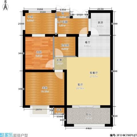 天元阳光苑2室1厅1卫1厨108.00㎡户型图