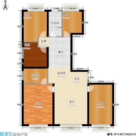 东方国际中心4室0厅2卫1厨143.00㎡户型图