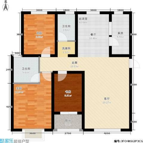 贻成・御景国际3室0厅2卫1厨139.00㎡户型图