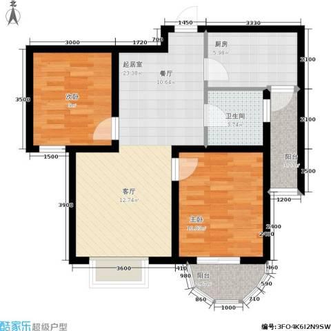 贻成・御景国际2室0厅1卫1厨92.00㎡户型图