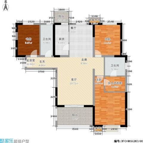 贻成・御景国际3室0厅2卫1厨162.00㎡户型图