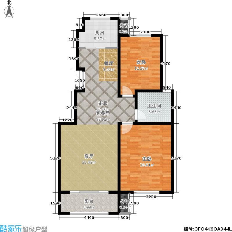 盛世康城三期怡园98.00㎡2室1厅1卫