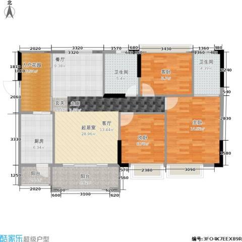 德洲城3室0厅2卫1厨114.00㎡户型图