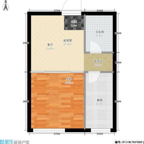 凯宾国际1室0厅1卫1厨42.00㎡户型图