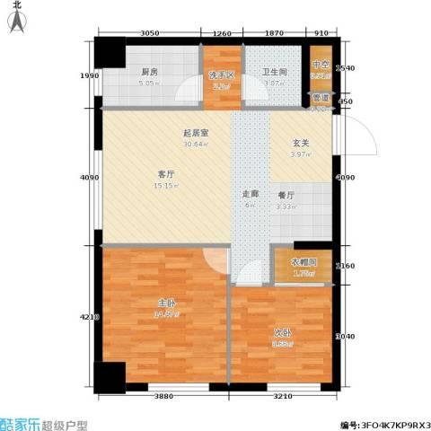 凯宾国际2室0厅1卫1厨73.00㎡户型图