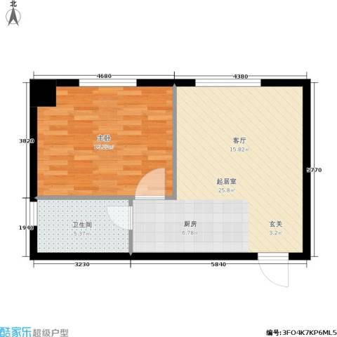 凯宾国际1室0厅1卫0厨52.00㎡户型图