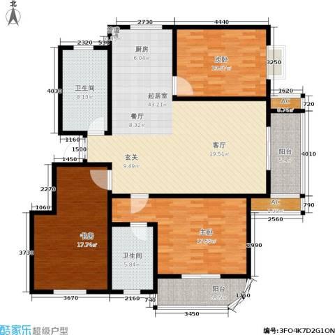金色奥园3室0厅2卫0厨166.00㎡户型图