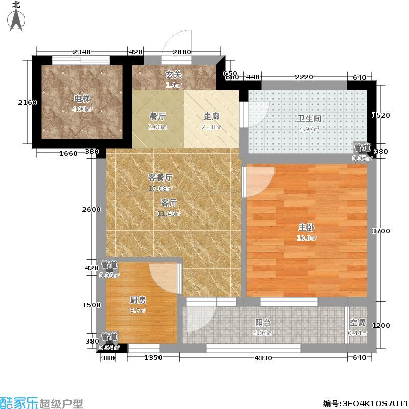 金色和园58.97㎡e面积5897m户型