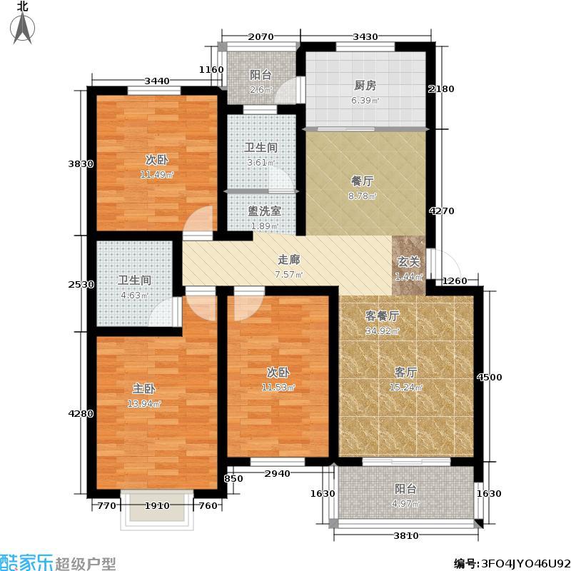 胜利公寓110.00㎡1面积11000m户型
