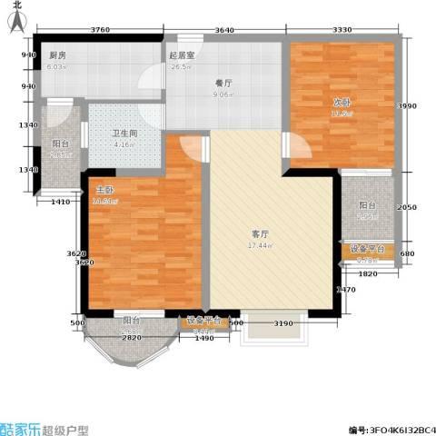 贻成・御景国际2室0厅1卫1厨105.00㎡户型图