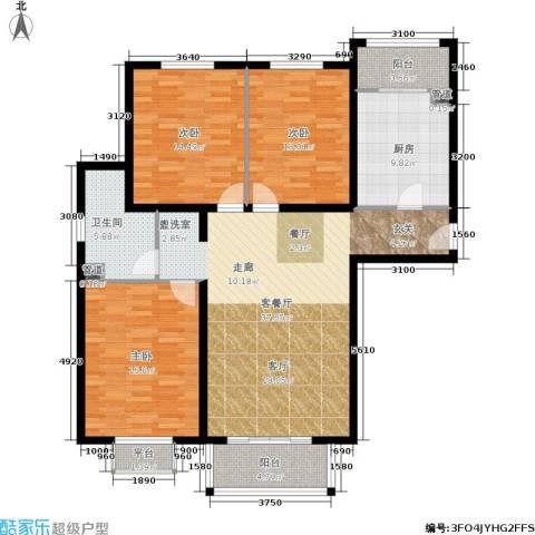 龙熙帝景3室1厅1卫1厨120.00㎡户型图