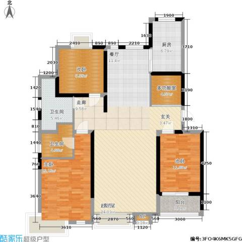 伟浩中央花园3室0厅2卫1厨141.00㎡户型图
