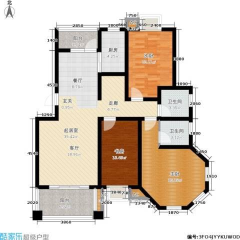 维也纳花园3室0厅2卫1厨123.00㎡户型图
