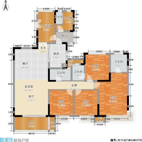 恒基水漾花城4室0厅4卫1厨190.00㎡户型图