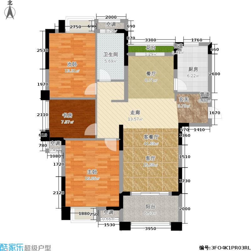 虹桥宝龙城115.00㎡A&apos-3户型2室2厅