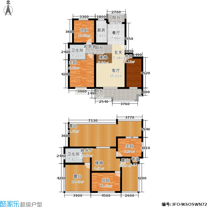 天洁国际雅典城167.00㎡C2复试户型4室3厅2卫