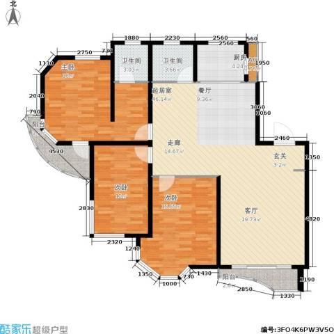 西湖城3室0厅2卫1厨152.00㎡户型图