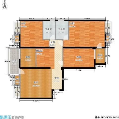 胜中尚东水润3室0厅2卫1厨150.00㎡户型图
