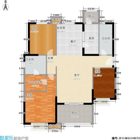 贻成・御景国际3室0厅2卫1厨161.00㎡户型图