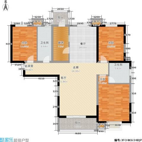 贻成・御景国际3室0厅2卫1厨173.00㎡户型图