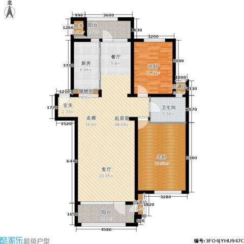 海川园2室0厅1卫1厨121.00㎡户型图