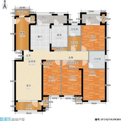 海川园4室0厅2卫1厨189.00㎡户型图