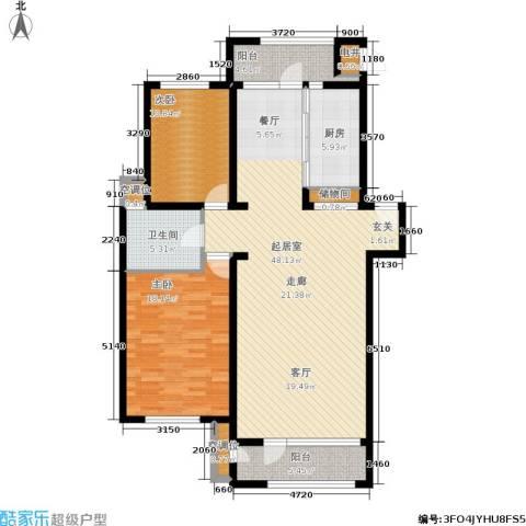 海川园2室0厅1卫1厨116.00㎡户型图