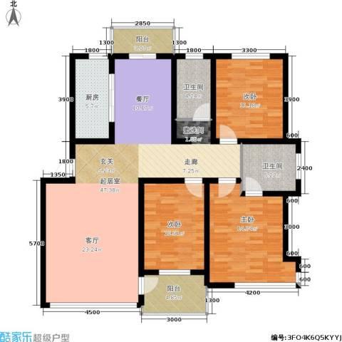 锦山秀城3室0厅2卫1厨135.00㎡户型图