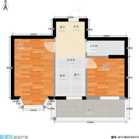 金豪斯经典二期2室0厅1卫0厨64.00㎡户型图