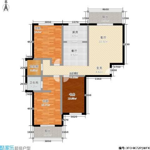 锦绣花园3室0厅2卫1厨139.00㎡户型图