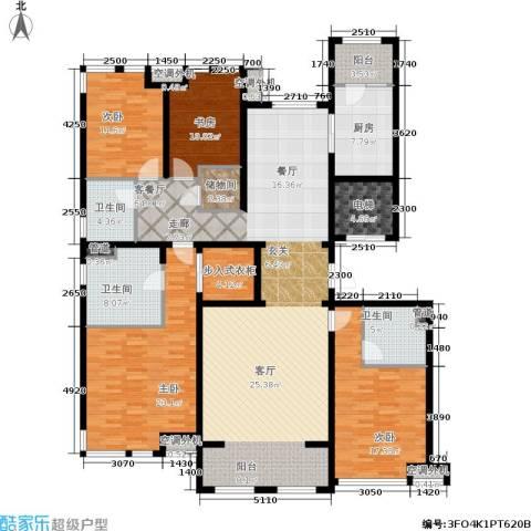 华润公元九里4室1厅3卫1厨223.00㎡户型图