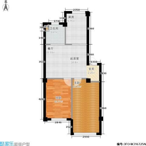 云鼎家园2室0厅1卫1厨71.00㎡户型图