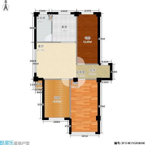 云鼎家园3室0厅1卫1厨92.00㎡户型图