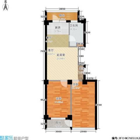 云鼎家园2室0厅1卫0厨75.00㎡户型图