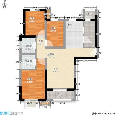 贻成・御景国际3室0厅2卫1厨138.00㎡户型图