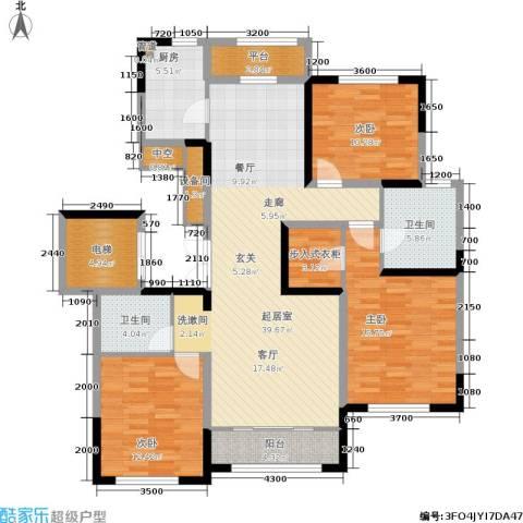 融创洞庭路壹号3室0厅2卫1厨142.00㎡户型图