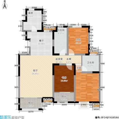 溪谷港湾3室0厅2卫1厨141.00㎡户型图