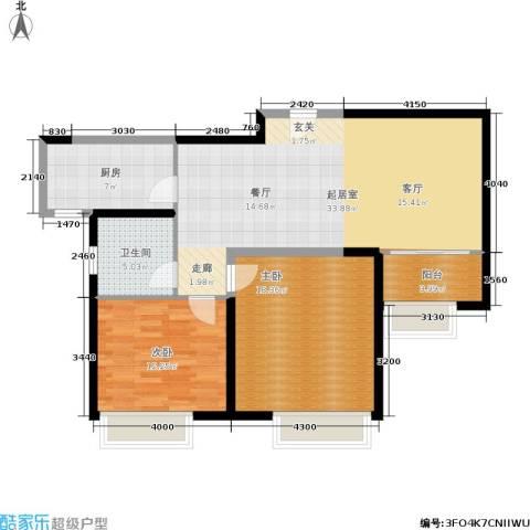 东方国际中心2室0厅1卫1厨90.00㎡户型图