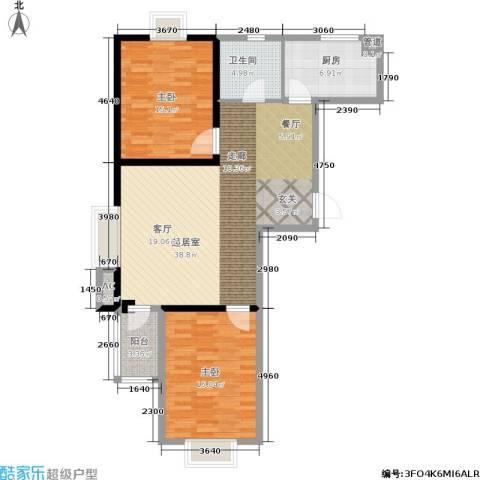 三和馨苑2室0厅1卫1厨97.00㎡户型图