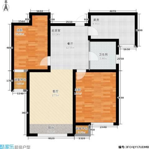 学仕府花园2室0厅1卫1厨87.00㎡户型图